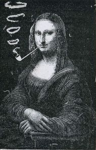 Eugene_Bataille_(Sapeck),_Mona_Lisa_with_a_Pipe,_1887,_photo